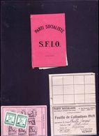 Carte SFIO, Timbres Jaures - Vieux Papiers