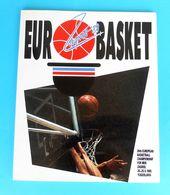 FIBA EUROBASKET '89. ( European Basketball Championships 1989.) Programme & Guide * Basket-ball Baloncesto Pallacanestro - Books