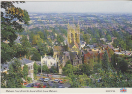 Postcard - Malvern Priory From St Anne's Well, Great Malvern - Card No. M.021018L - VG - Cartoline