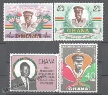 Ghana 1968 Yvert 315-18, Anniversary Death Of General Kotoka - MNH - Ghana (1957-...)