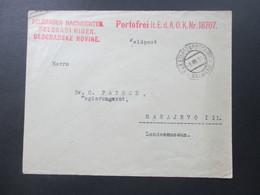 Österreich / Bosnien 1916 Belgrader Nachrichten. Portofrei Lt. E.d.A.O.K.Nr. 18707. KuK Etappenpostamt Belgrad - Bosnien-Herzegowina