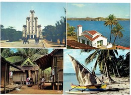 Lot 7 Cpm - MADAGASCAR -  Village Femme Enfants Poule DIEGO SUAREZ Pirogue Pêcheur MAJUNGA AMBOHIMANGA Lac - Madagascar
