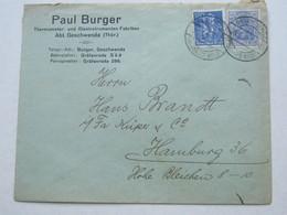 1922 , GESCHWENDA   , Klarer Stempel Auf  Firmenbrief - Briefe U. Dokumente