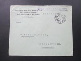 Österreich / Bosnien 1917 Belgrader Nachrichten. Portofrei Lt. E.d.A.O.K.Nr. 18707. KuK Etappenpostamt Belgrad - Bosnien-Herzegowina