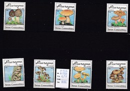 7 Valeurs Neuves  **du Nicaragua 1990 Champignon - Champignons