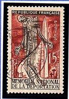 """EVENEMENTS - 1956: 15F Brun-carmin  """"Mémorial National De La Déportation, à Struthof""""  N° 1050 Obl - Oblitérés"""