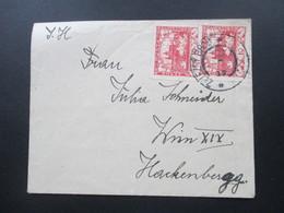 Tschechoslowakei 1919 Hradschin MeF Nr. 3A ?!? Gezähnt. Stempel Zelezny Brod - Tschechoslowakei/CSSR