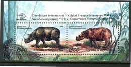 INDONESIA 1996** - Rinoceronte - Miniblock Di 2 Val. MNH, Come Da Scansione. - Rhinozerosse