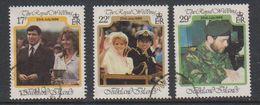 Falkland Islands 1986 Royal Wedding 3v Used (38844F) - Falklandeilanden