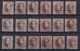 N° 14 : Losange De Points  18 Timbres Dentelure Diverses - 1863-1864 Medallions (13/16)