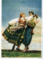 154381 Lithuania FOLK DANCE Suktinis Old Postcard - Europe