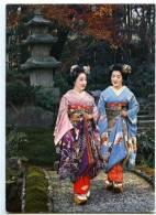 154384 JAPAN Maiko Girls Geisha KYOTO Photo Postcard - Asia