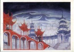 153122 Scetch Puccini OPERA Turandot By BENOIS Old Russian PC - Other Illustrators