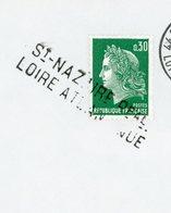 """FRANCE - CACHET ANNULATION  """" St-NAZAIRE Ppal LOIRE ATLANTIQUE """" SUR CHEFFER 0,30 VERT - Postmark Collection (Covers)"""
