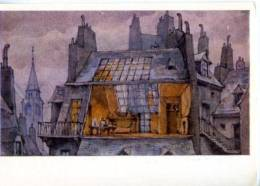 153127 Puccini OPERA La Boheme By BENOIS Old Russian PC - Other Illustrators