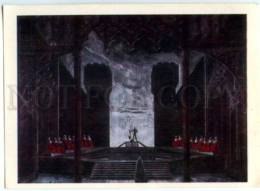 153128 Donizetti OPERA Maria Stuarda By BENOIS Old Russian PC - Other Illustrators