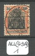 ALL(G9A) ETAPPENGEBIET DER 9 ARMEE  Mi 4 II Ob - Occupation 1914-18
