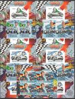 Y109 !!! IMPERFORATE 2012 BURUNDI SPORT FORMULA 1 F1 SENNA SCHUMACHER VETTEL 5KB MNH - Cars