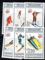 383 - 490 - ALBANIA 1976 ,    Yvert N. 1644/1649 ***  MNH Innsbruck - Albania
