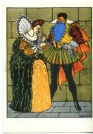 153294 Perrault Bluebeard W/ Wife By O'CONNOL Old Russian PC - Other Illustrators