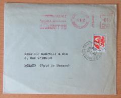 Enveloppe Avec EMA Publicitaire (société Faïence) + Timbre YT N°1468 - Cachet 1968 - Postmark Collection (Covers)