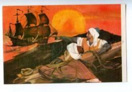 153310 Hauff Ghost Ship By NOVOZHILOV Old Russian PC - Other Illustrators