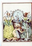 153315 CINDERELLA & Sisters By GOROHOVSKY Old Russian Art PC - Other Illustrators