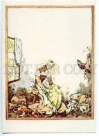 153316 CINDERELLA In Kitchen By GOROHOVSKY Old Russian Art PC - Other Illustrators
