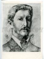 154652 Self-Portrait Mikhail VRUBEL Russian Painter Old PC - Other Illustrators