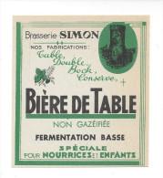Etiquette De  Bière De Table   -   Brasserie  Simon  à  Lewarde  (59) - Beer