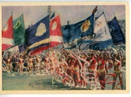 154664 1956 USSR Parade Of Athletes Physical Culture Parade - Postcards
