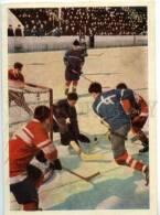 154668 ICE HOCKEY By Borodulin Photographer Old Postcard 1962 - Postcards