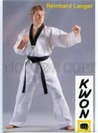 154671 Reinhard LANGER WTF Takewondo Fighter Old Postcard - Lutte