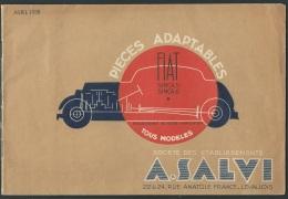 Catalogue Avril 1938 , Pièces Adaptables Fiat Simca 5 Et Simca 6  , 26 Pages -  Kub26 - Auto