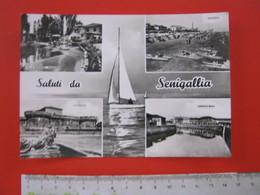 CA6 - ITALIA ITALY CARD - SENIGALLIA ANCONA VG. 1962 VEDUTINE VILLA SORRISO ROCCA CANALE MISA SPIAGGIA - Senigallia
