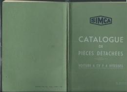 Catalogue Janvier 1938 ,  Simca , Pièces Détachées Voiture 6 Cv F 4 Vitesses , 3è Edition, 99 Pages  -  Kub27 - Auto