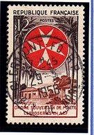 """EVENEMENTS - 1956: 12F Sépia, Rouge-  """"Ordre De Maltel""""  N° 1062 Obl - France"""