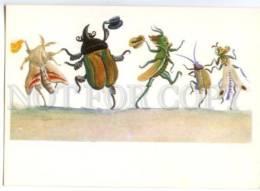 153388 Dressed BUTTERFLY GRASSHOPPER By KONASHEVICH Old PC - Other Illustrators