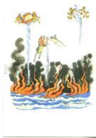 153390 Chukovsky Flying FROG FISH Hen By KONASHEVICH Old PC - Other Illustrators
