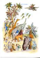153394 Aybolit FROG GIRAFFE ELEPHANT LION By KONASHEVICH Old - Other Illustrators
