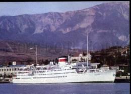 154718 USSR Turbo-electric Powered Passenger Ship ABKHAZIA OLD - Ships
