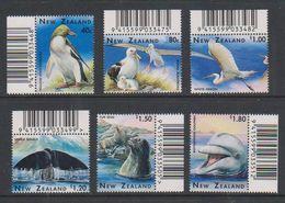 New Zealand 1996 Marine Life 6v (code In Margin) ** Mnh (38846A) - Blocks & Sheetlets