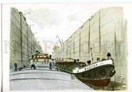154733 Volga–Baltic Waterway Gateway SHIP By VETROGONSKY Old - Other Illustrators