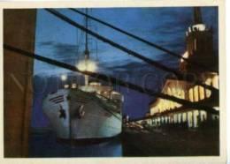154734 Russia Caucasus SOCHI Sea Station Port Old Photo PC - Ships