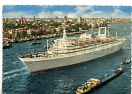 154737 SHIP ROTTERDAM Holland-Amerika Line Old Photo PC - Ships