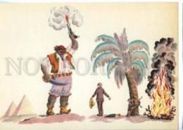 153423 Chukovsky Aybolit BARMALEY By KONASHEVICH Old PC - Other Illustrators