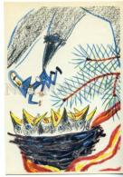 153430 Chukovsky Bibigon CROW Nest By MITURICH Old Russian PC - Other Illustrators