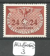 ALL(GeGo) GENERAL GOUVERNEMENT  Mi SERVICE 6 ** - Occupazione 1938 – 45