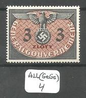 ALL(GeGo) GENERAL GOUVERNEMENT  Mi SERVICE 14 ** - Besetzungen 1938-45