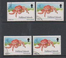 Falkland Islands 1994 Marine Life 1 GBP Used 4x  (38844E) - Falklandeilanden